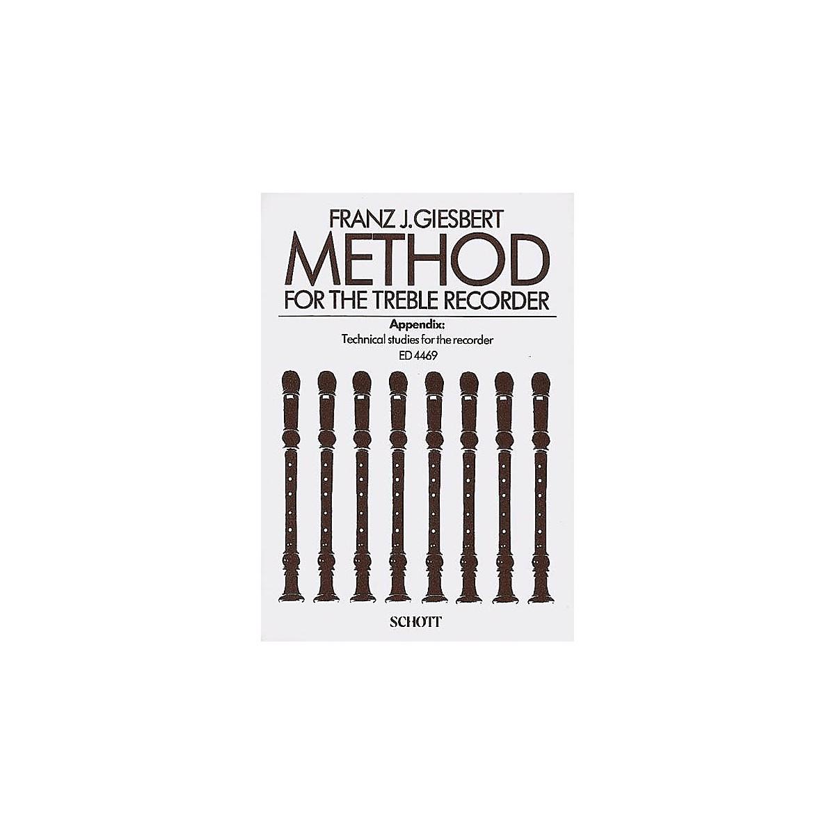 Schott Method for the Treble Recorder Schott Series