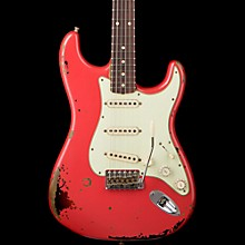Fender Custom Shop Michael Landau 1963 Signature Stratocaster  Electric Guitar Fiesta Red Over 3-Tone Sunburst