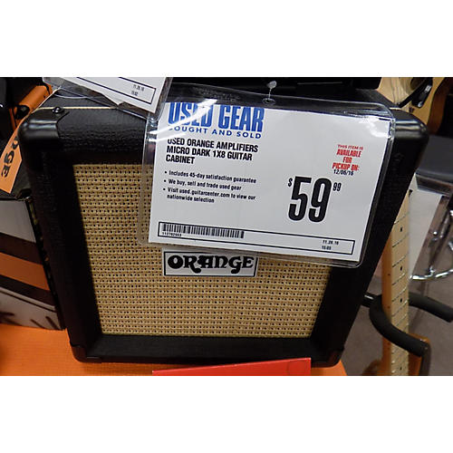 Orange Amplifiers Micro Dark 1x8 Guitar Cabinet