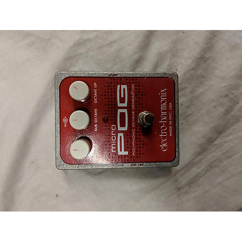 used electro harmonix micro pog polyphonic octave generator effect pedal guitar center