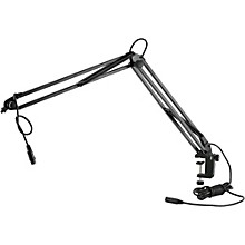 K&M Microphone Desk Arm (Clamping) w/ XLR Connector