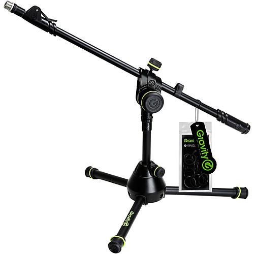 Gravity Stands Microphone Stand Short With Folding Tripod Base - Heavy Duty