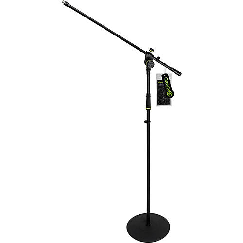 Gravity Stands Microphone Stand With Round Base And 2-point Adjustment Boom