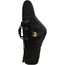 Mid-Suspension AM Low Bb Baritone Saxophone Gig Bag 107B-MSK Black Synthetic w/ Leather Trim