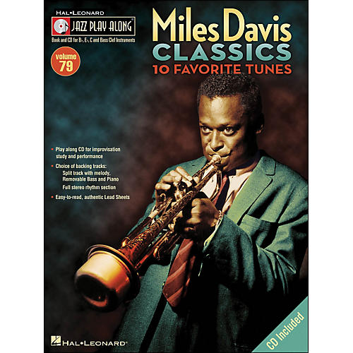 Hal Leonard Miles Davis Classics Jazz Play-Along Volume 79 Book/CD