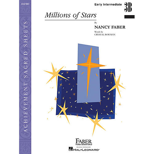 Faber Piano Adventures Millions of Stars (Early Inter/Level 3B Piano Solo) Faber Piano Adventures Series by Nancy Faber