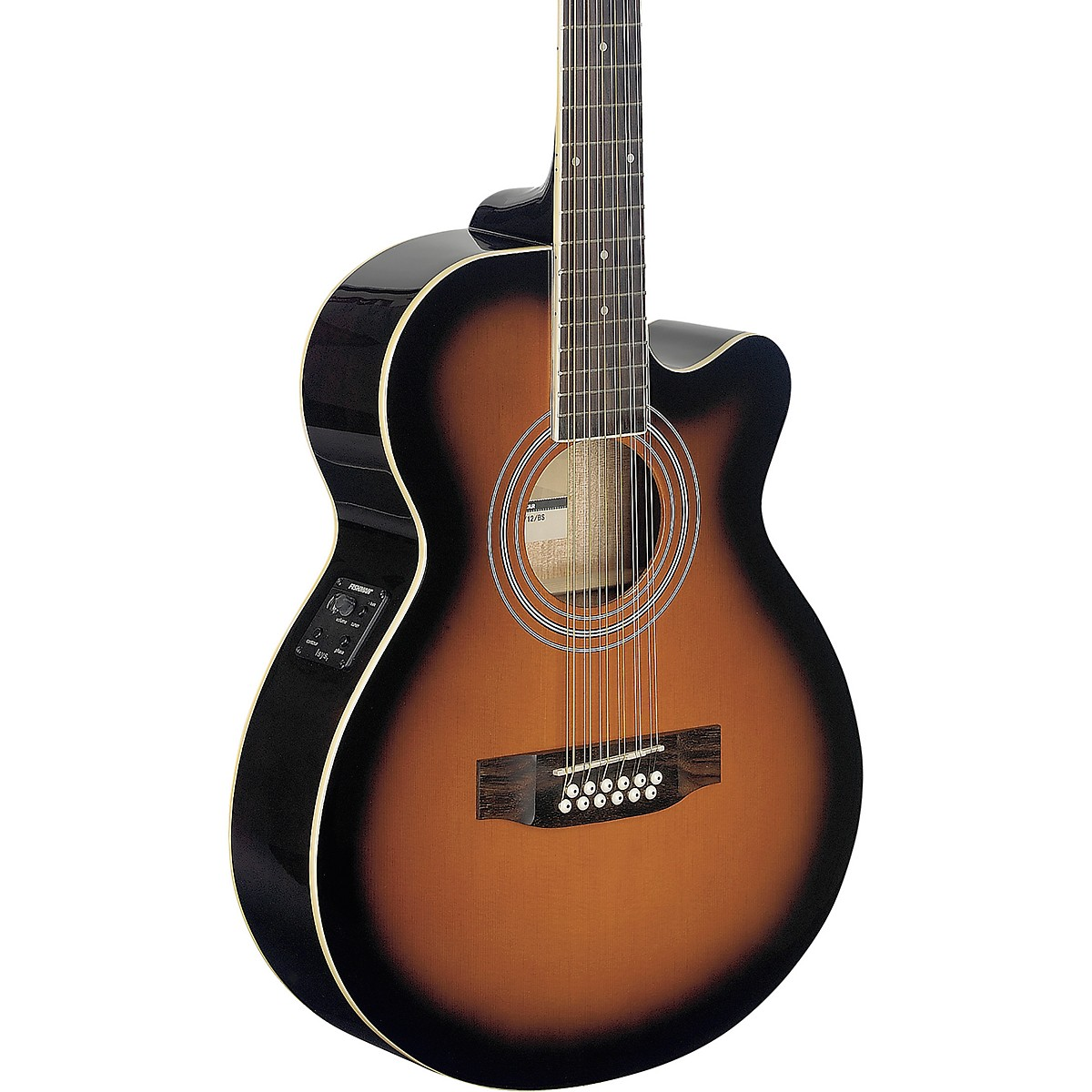 Stagg Mini-Jumbo Electro-Acoustic Cutaway 12-String Concert Guitar