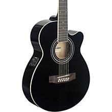 Mini-Jumbo Electro-Acoustic Cutaway 12-String Concert Guitar Level 2 Black 190839767134