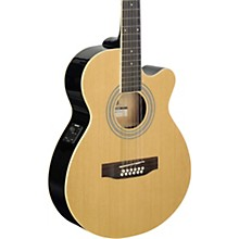 Mini-Jumbo Electro-Acoustic Cutaway 12-String Concert Guitar Natural