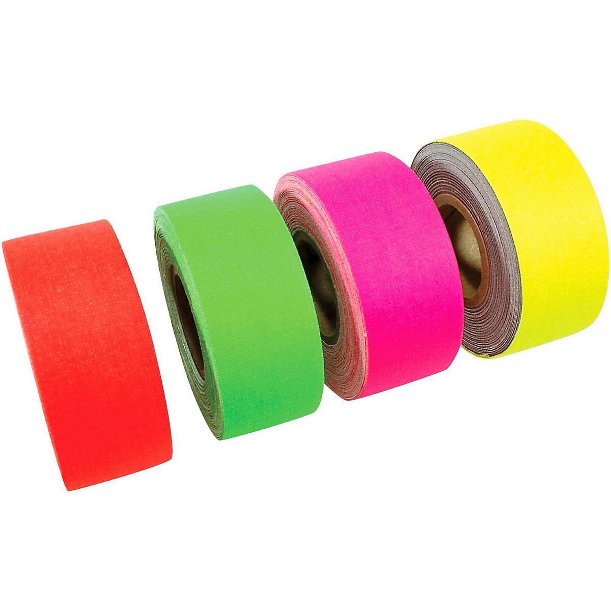 American Recorder Technologies Mini Roll Gaffers Tape 1 In x 8 Yards - Green, Yellow, Pink, Orange