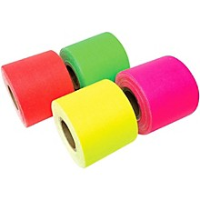 American Recorder Technologies Mini Roll Gaffers Tape 2 In x 8 Yards - Green, Yellow, Pink, Orange