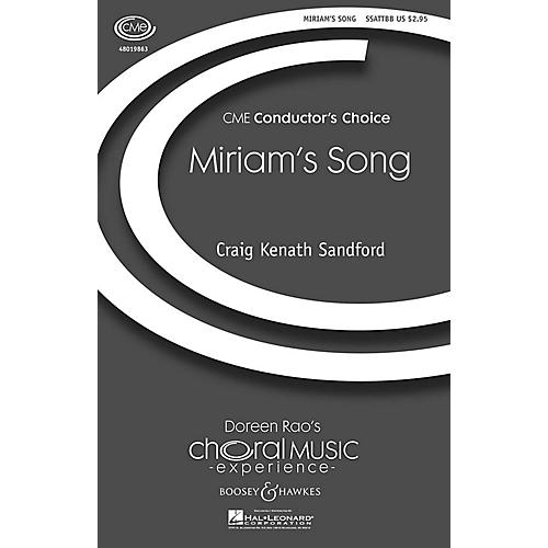 Boosey and Hawkes Miriam's Song Percussion Composed by Craig Kenath Sandford