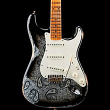 Mischief Maker Heavy Relic Stratocaster Electric Guitar Black Paisley