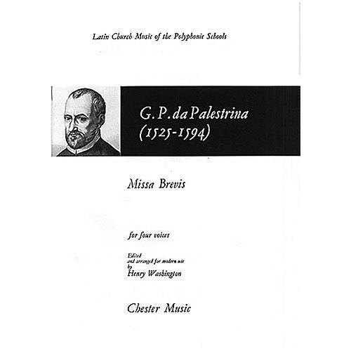 Chester Music Missa Brevis SATB Composed by Giovanni de Palestrina