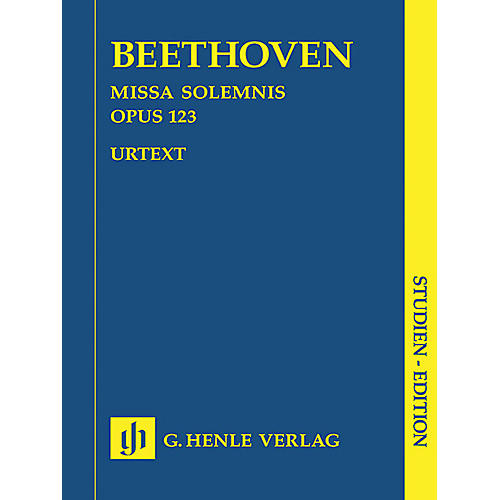 G. Henle Verlag Missa Solemnis D Major Op. 123 (Study Score) Henle Study Scores Series Softcover by Ludwig van Beethoven