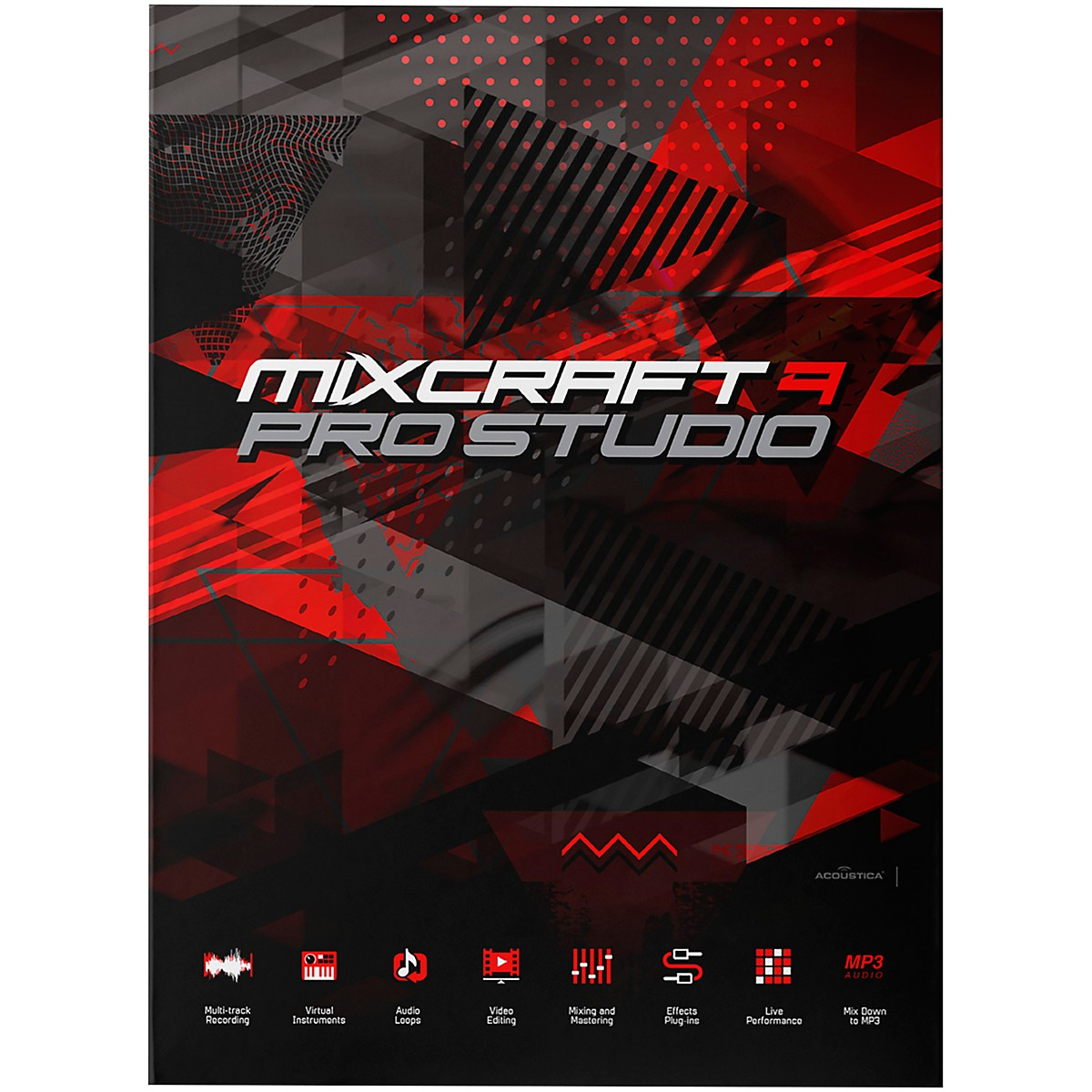 Acoustica Mixcraft 9 Pro Studio / Professional Multi-Track Recording Suite (Download)