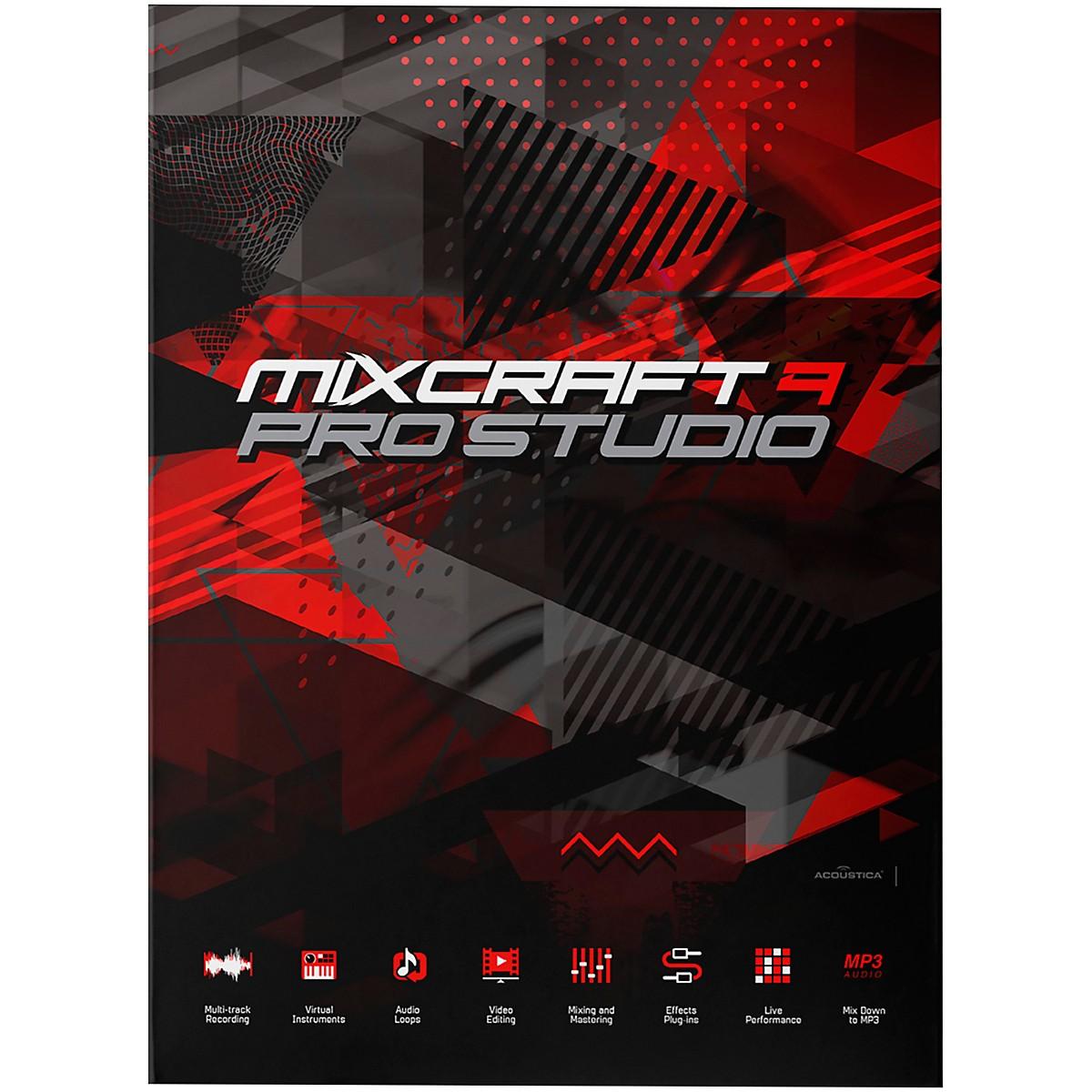 Acoustica Mixcraft 9 Pro Studio EDU / Professional Multi-Track Recording Suite (Download)