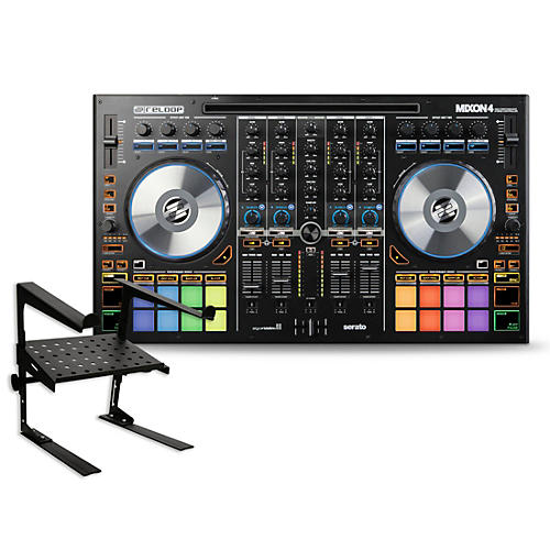 Reloop Mixon 4 DJ Controller with Laptop Stand