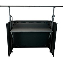 GLOBAL TRUSS Mobile DJ Table with Black Facade and Crank System Truss