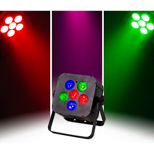 ColorKey MobilePar Hex 6 RGBAW+UV LED Wireless PAR Light, Black