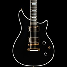 Modern Double Cut Custom Electric Guitar Ebony