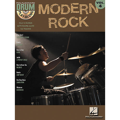 Hal Leonard Modern Rock Volume 4 Drum Play-Along Book with CD