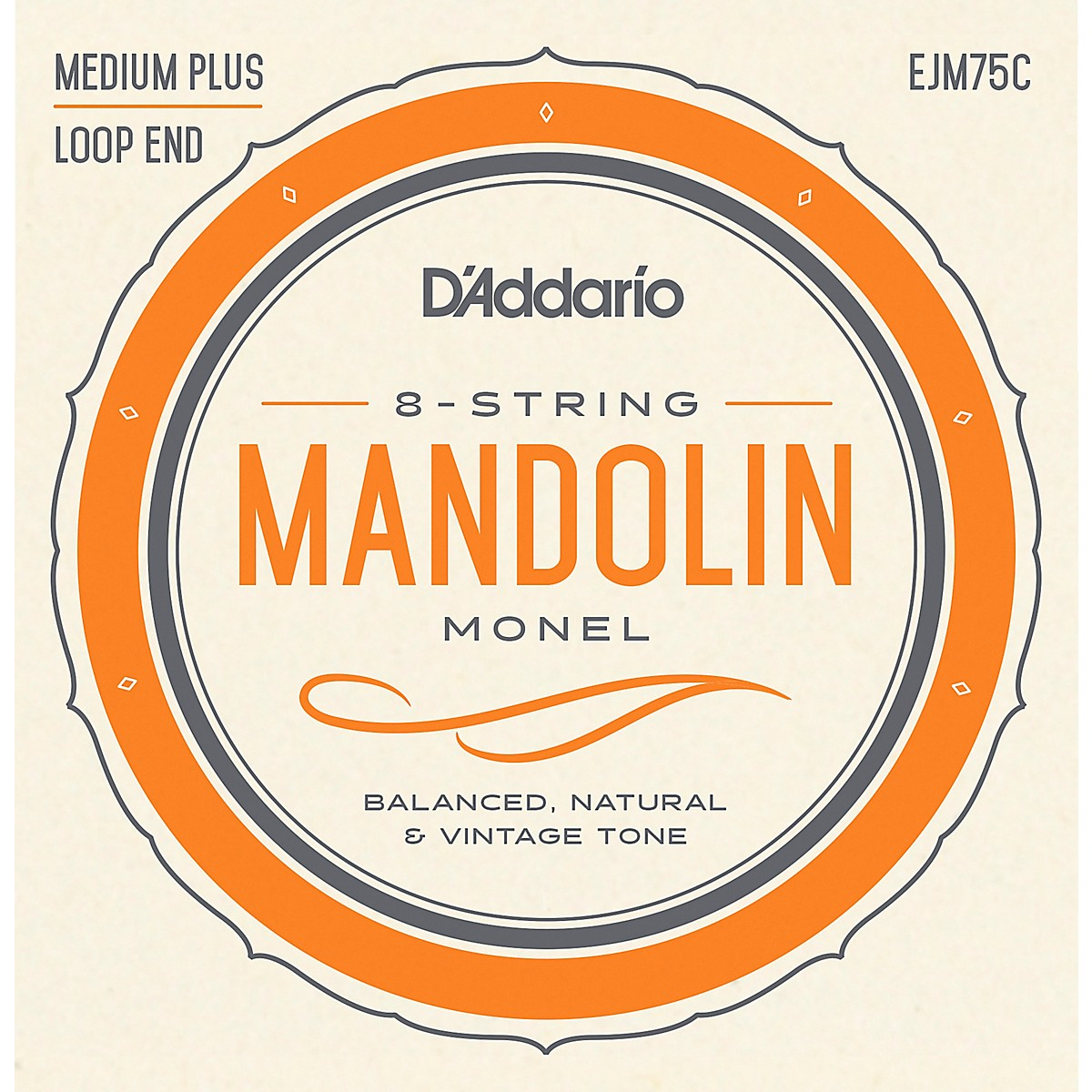 D'Addario Monel Mandolin Strings Medium Plus