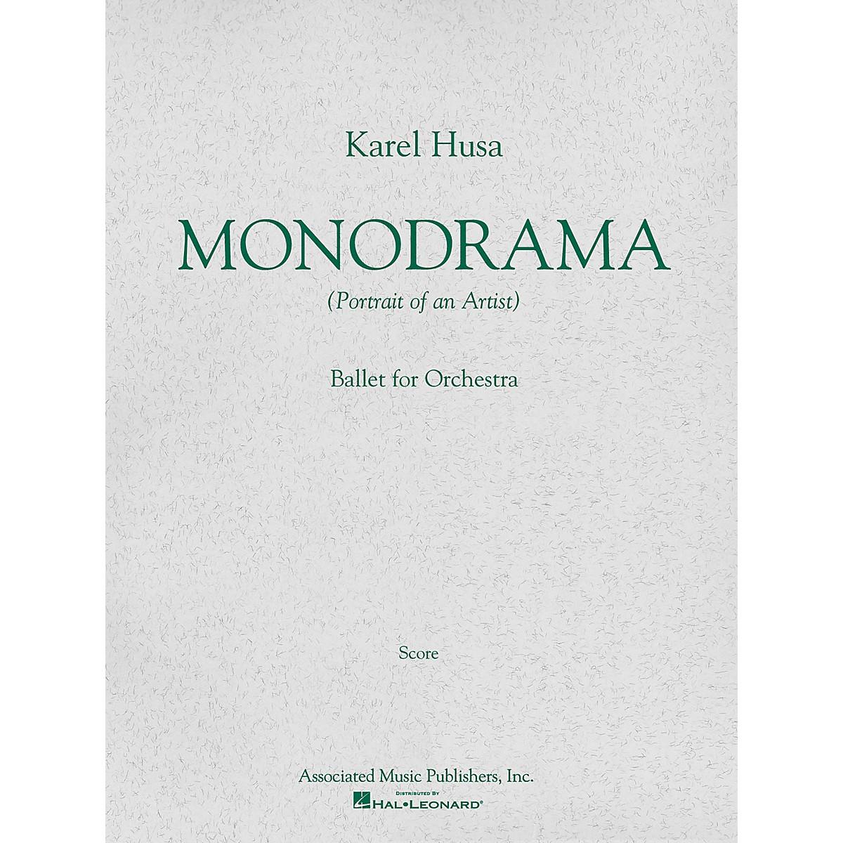 Associated Monodrama (Portrait of an Artist) (Miniature Full Score) Study Score Series Composed by Karel Husa