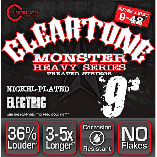 Cleartone Monster Black Series Super Light Electric Guitar Strings