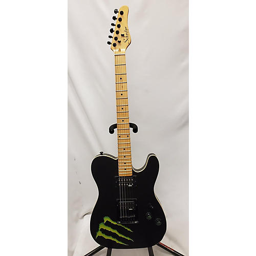 used schecter guitar research monster promo telecaster solid body electric guitar black guitar. Black Bedroom Furniture Sets. Home Design Ideas