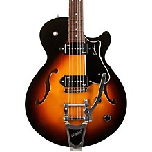 Montreal Premiere Hollowbody Guitar with P90s & Bigsby Level 2 Sunburst 190839185167