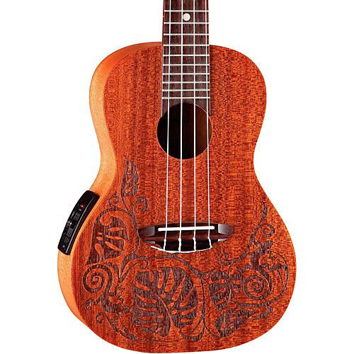 luna guitars mo 39 o concert acoustic electric ukulele guitar center. Black Bedroom Furniture Sets. Home Design Ideas