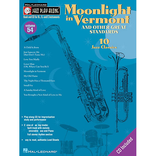Hal Leonard Moonlight in Vermont & Other Great Standards Jazz Play Along Series Softcover with CD by Various