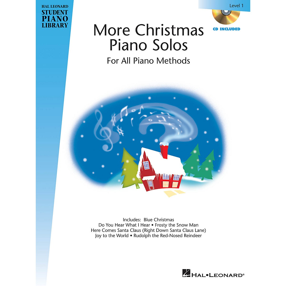 Hal Leonard More Christmas Piano Solos - Level 1 Piano Library Series Book with CD