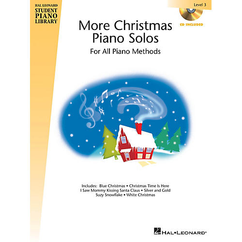 Hal Leonard More Christmas Piano Solos - Level 3 Piano Library Series Book with CD