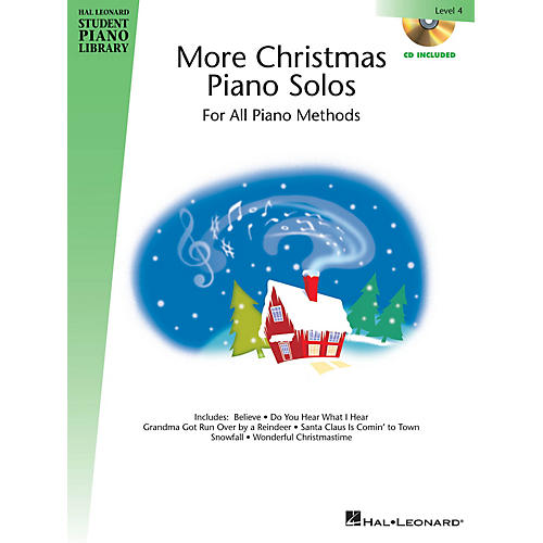 Hal Leonard More Christmas Piano Solos - Level 4 Piano Library Series Book with CD