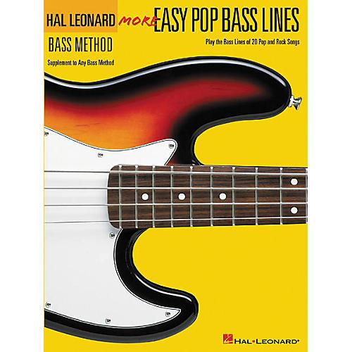 Hal Leonard More Easy Pop Bass Lines Bass Tab Book
