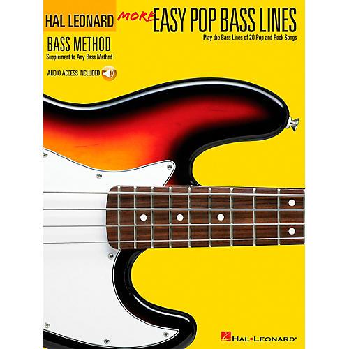 Hal Leonard More Easy Pop Bass Lines (Book/CD)