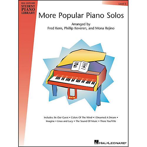 Hal Leonard More Popular Piano Solos Book 5 Hal Leonard Student Piano Library