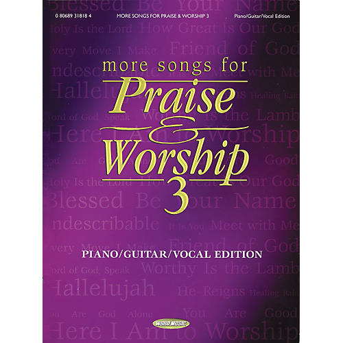 Hal Leonard More Songs for Praise and Worship 3 Piano/Vocal/Guitar Songbook