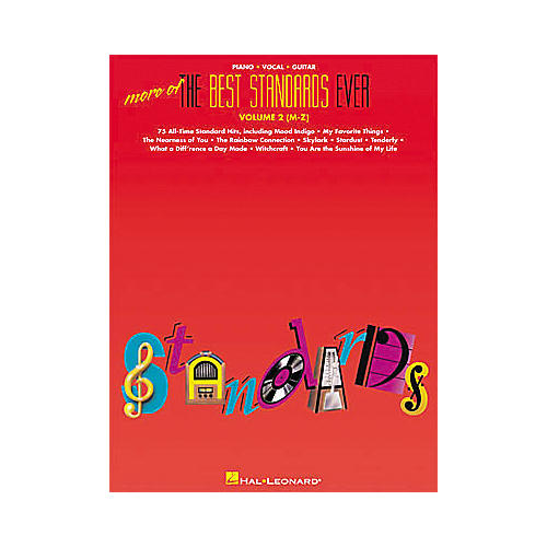 Hal Leonard More of the Best Standards Ever - Volume 2 (M-Z) Piano, Vocal, Guitar Songbook