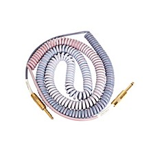 Lava Morph Coil Instrument Cable Straight Silent to Straight Level 1 Reds, Pinks, Brown, Blue 25 ft.