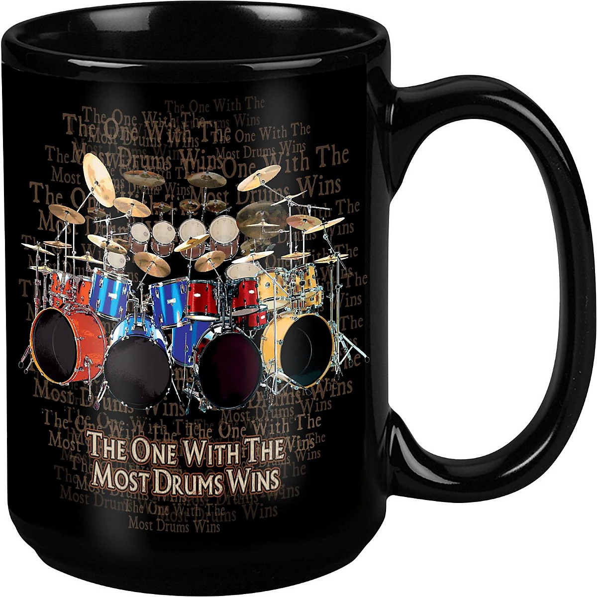 Taboo Most Drums Win Black Mug 15 oz