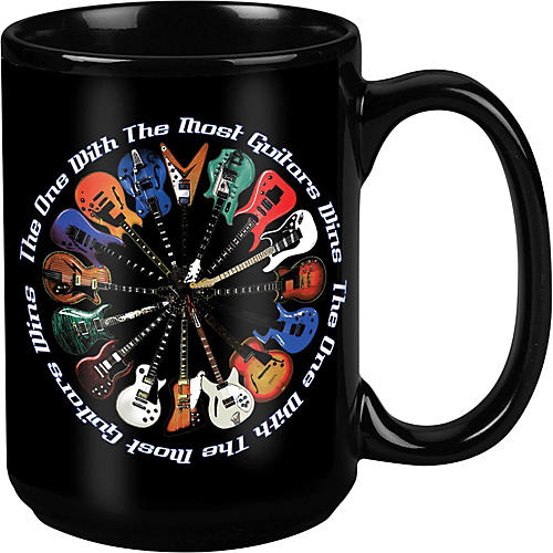 Taboo Most Guitars Win Black Mug 15 oz