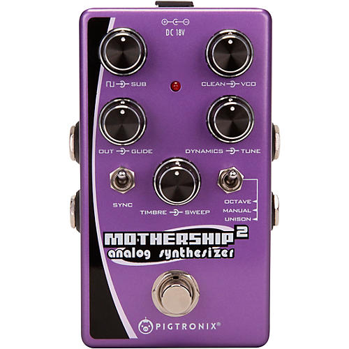 Pigtronix Mothership 2 Analog Synthesizer Pedal
