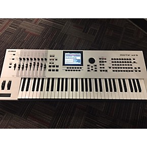 used yamaha motif xf6 61 key white 40th anniversary limited edition keyboard workstation. Black Bedroom Furniture Sets. Home Design Ideas