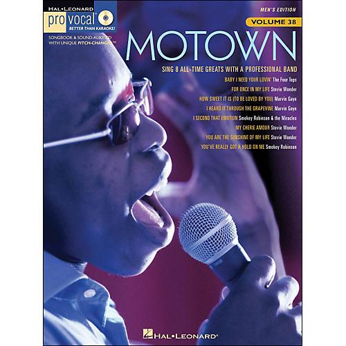 Hal Leonard Motown - Pro Vocal Songbook Volume 38 Men's Edition Book/CD