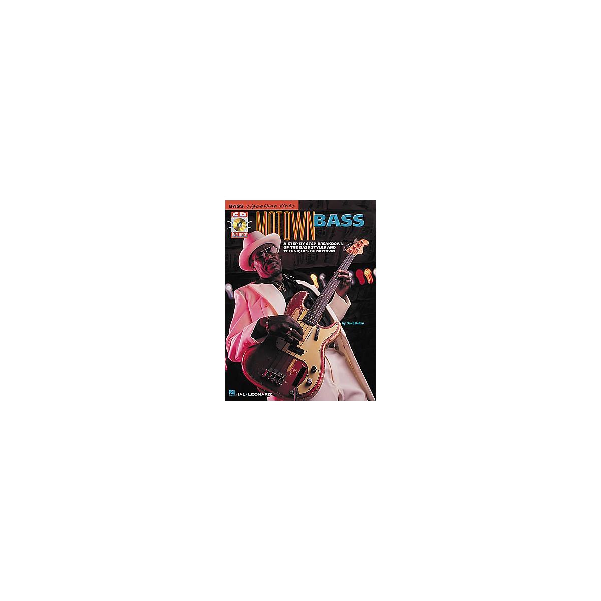 Hal Leonard Motown Bass Signature Licks Book with CD