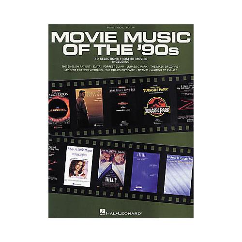 Hal Leonard Movie Music of the 90's Piano, Vocal, Guitar Songbook