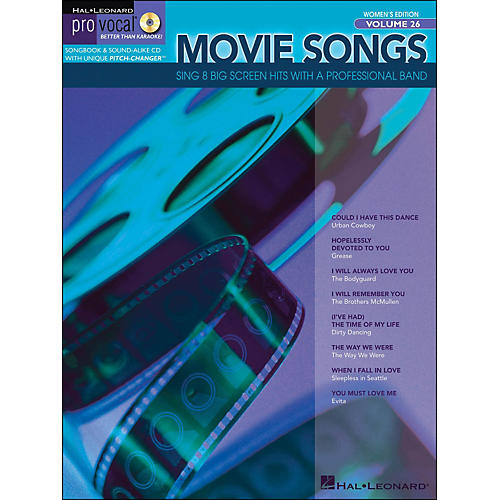 Hal Leonard Movie Songs Pro Vocal Series Women's Edition Volume 26 Book/CD